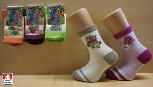 Dětské elastické ponožky PONDY.CZ vzorované dívčí f2ea41a258