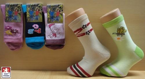 fa2c597fc2c Dětské elastické vzorované ponožky PONDY.CZ - dívčí