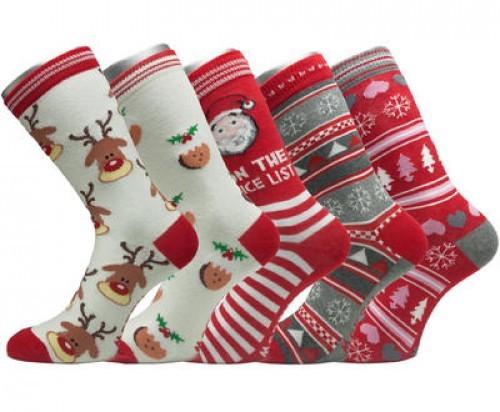 Dámské ponožky vánoční 214181f0c4