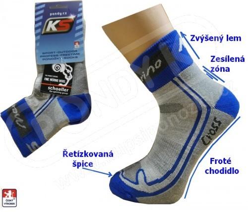 Běžecké ponožky KS CROSS MERINO vlna 37-47 80b5cfe2b8