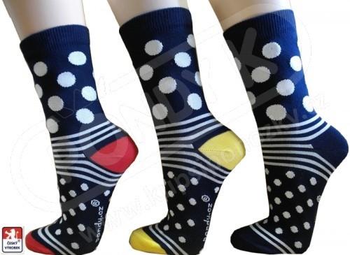 1345c432612 Ponožky dámské PONDY.CZ designové PUNTÍKY 37-41