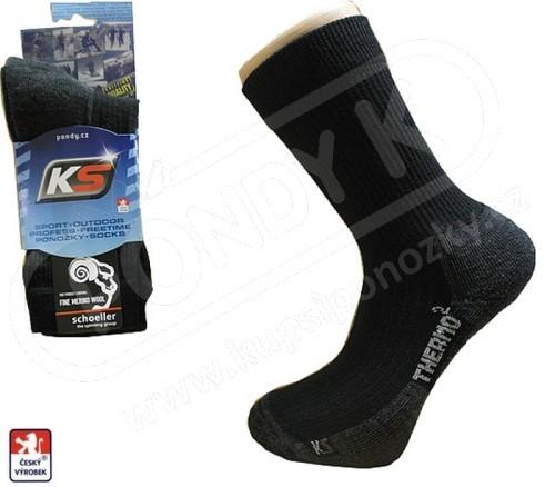 e84dc591e22 VÝPRODEJ MERINO Ponožky sportovní KS EXTHERMO NA DRUHOU 33-49