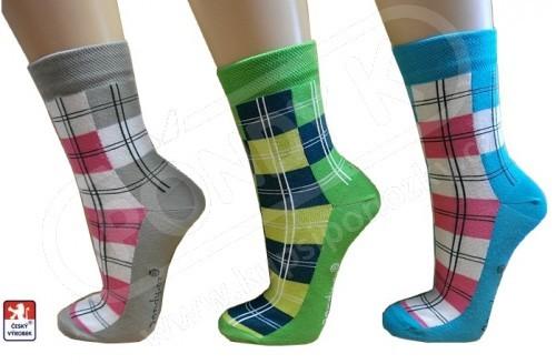 dbee237b5fc Ponožky dámské PONDY.CZ designové KOSTKY 37-41