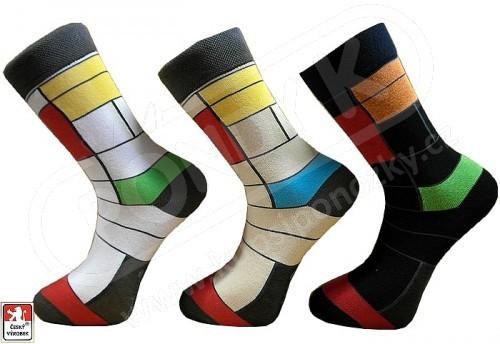 c334beefd38 Ponožky PONDY.CZ pánské barevné design