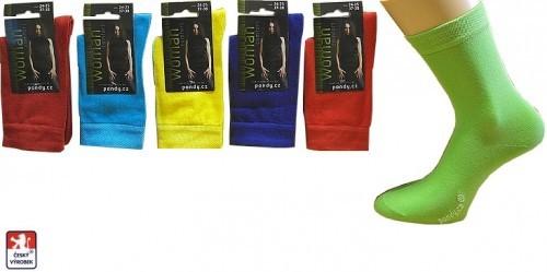 03f58f57c8c Dámské ponožky PONDY.CZ celobarevné ELASTIK 37-41