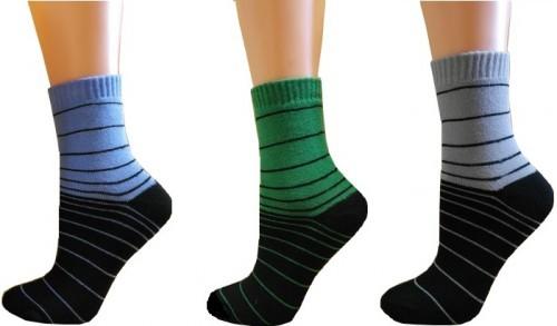 e5c710197af Ponožky dětské PONDY.CZ froté PROUŽKY 24-35