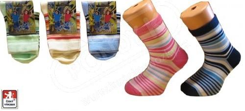 cbd0407d95a Dětské ponožky PONDY.CZ PRUHY úzké