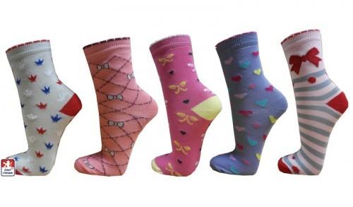 Dětské ponožky dívčí vzory efbbe37a1b