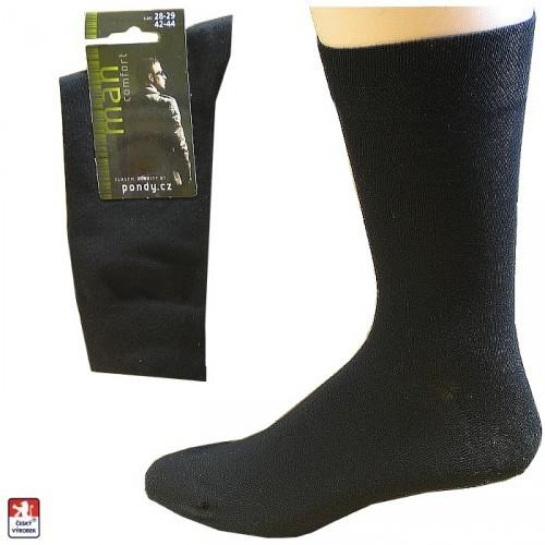 238d6638409 Ponožky pánské PONDY.CZ extra jemné NATUR COTTON 39-47