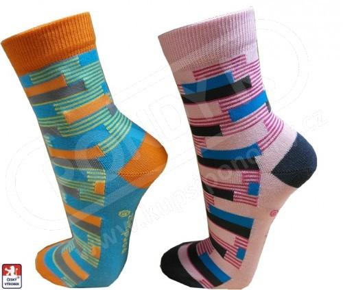 187d296db04 Ponožky dámské designové COLOR RASTR 37-41 PONDY.CZ