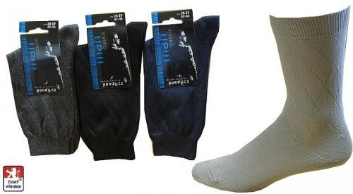 83f391bda78 Pánské společenské ponožky PONDY.CZ 39-49