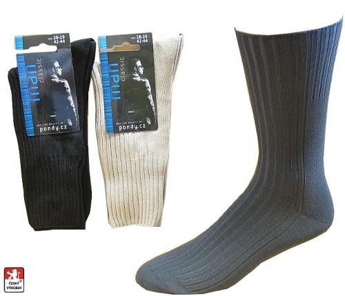 03737f63766 Pánské ponožky PONDY.CZ volný lem 39-47