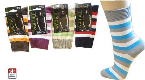 Dámské ponožky PONDY.CZ PRUHY široké 37-41 e9196d28a7