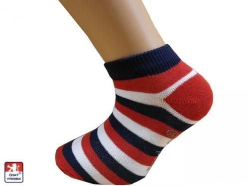Dětské snížené ponožky široké pruhy f70e22dffc