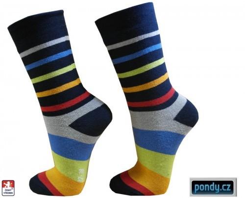 e3065d22f6 Dámské froté ponožky PRUHY