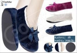 Dámské domácí zateplené baleriny s ABS - Ponožky dámské  7497556637