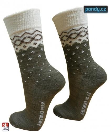 3935d1ecebd Dámské luxusní MERINO vlněné ponožky