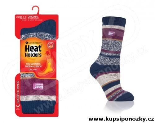 HEAT HOLDERS TERMO ponožky dámské STRIPE c6ae53846d