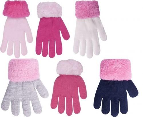 Dívčí prstové rukavičky ozdobný lem vel.18 3fc6b728ee