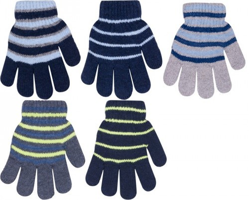 Dětské dvouvrstvé prstové rukavice s vlnou 723f8a3330