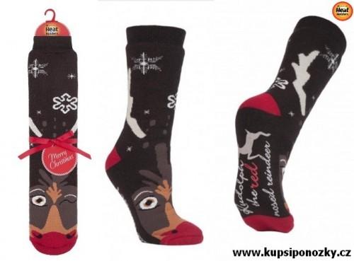 HEAT HOLDERS ponožky pánské vánoční RUDOLF S ABS 6c1080bf39