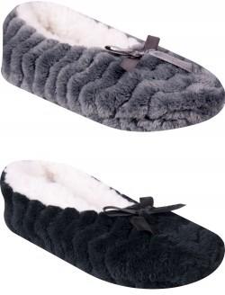Dámské domácí baleriny s ABS - Ponožky dámské  fe259fced9